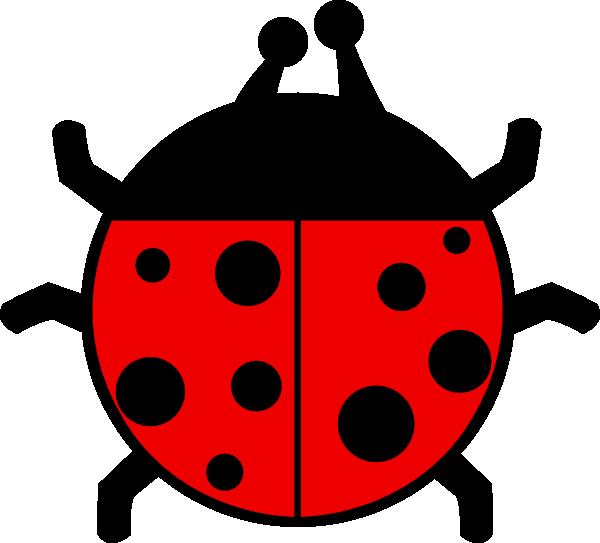 Ladybug flat colors clip. Ladybugs clipart gambar