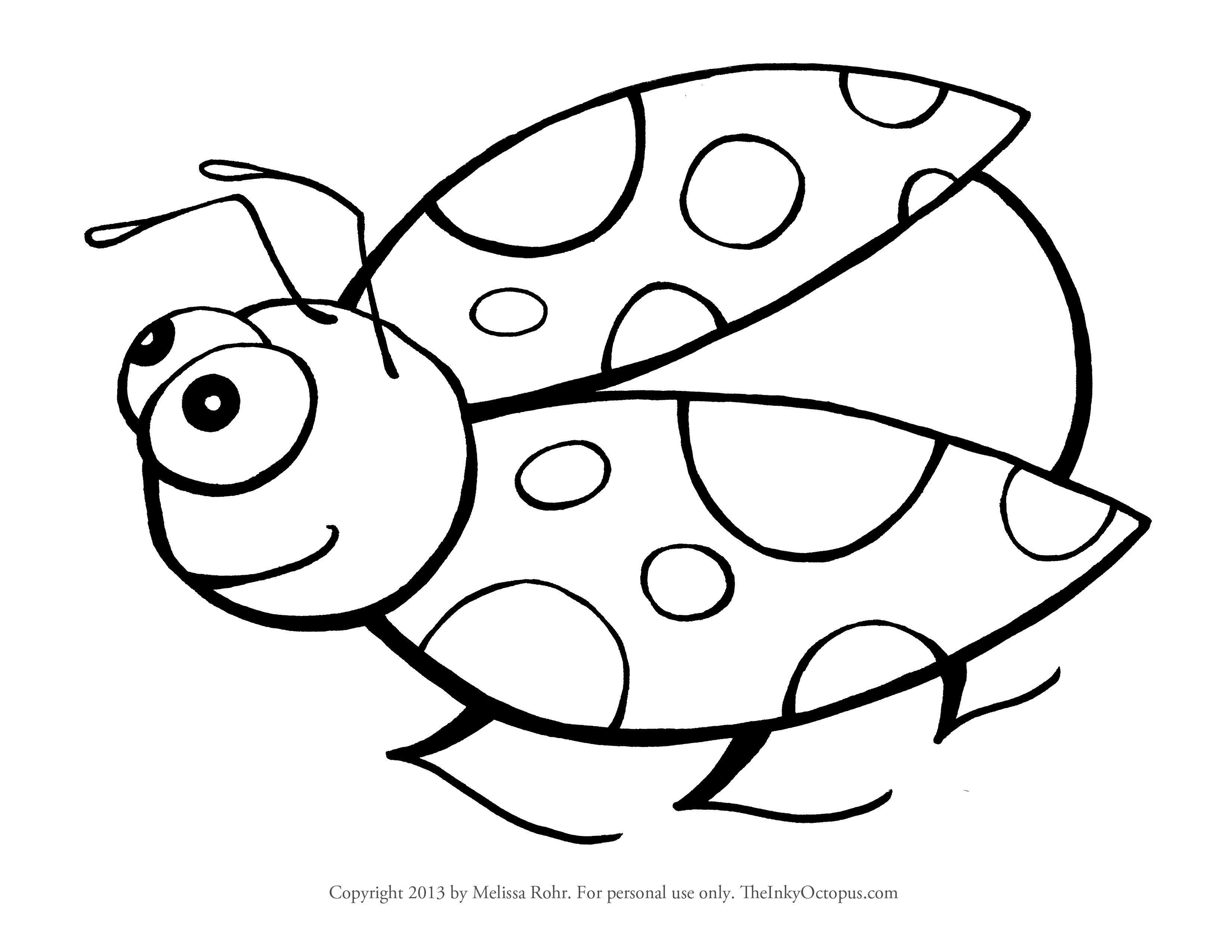 Ladybug clipart colouring. Cute coloring pages free