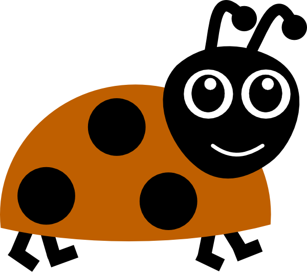 Brown ladybug clip art. Ladybugs clipart cute