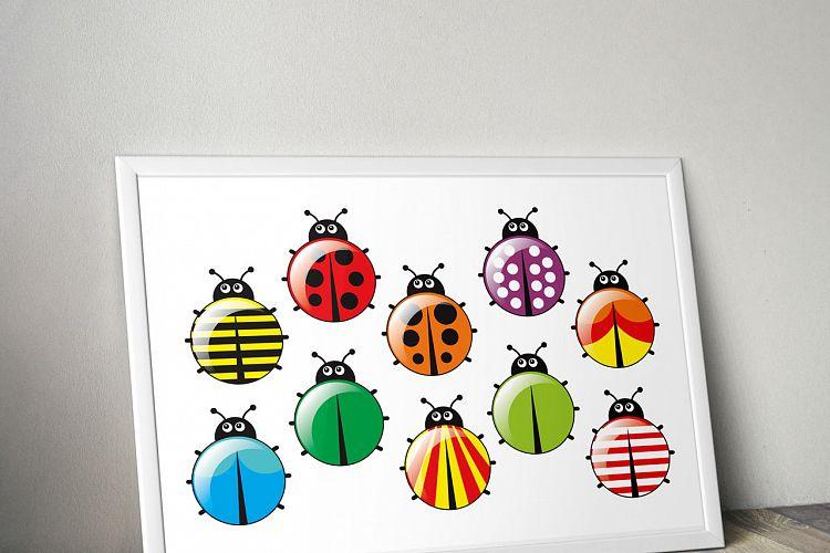 Ladybugs clipart egg. Bugs animal ladybug bundle