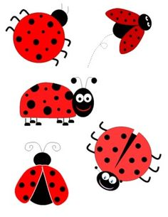 Ladybugs clipart five. Free download best on