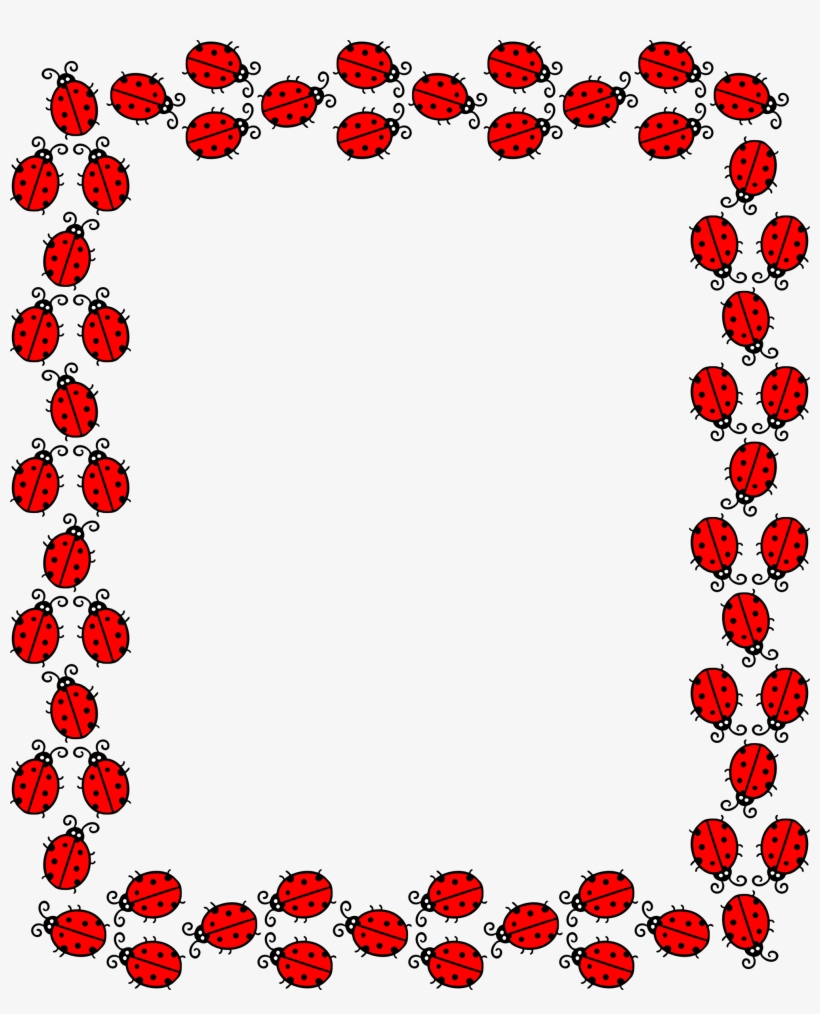 Frames red and white. Ladybug clipart frame
