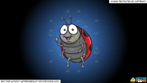A on blue and. Ladybug clipart friendly