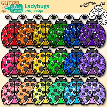 Garden clip art bug. Ladybug clipart glitter