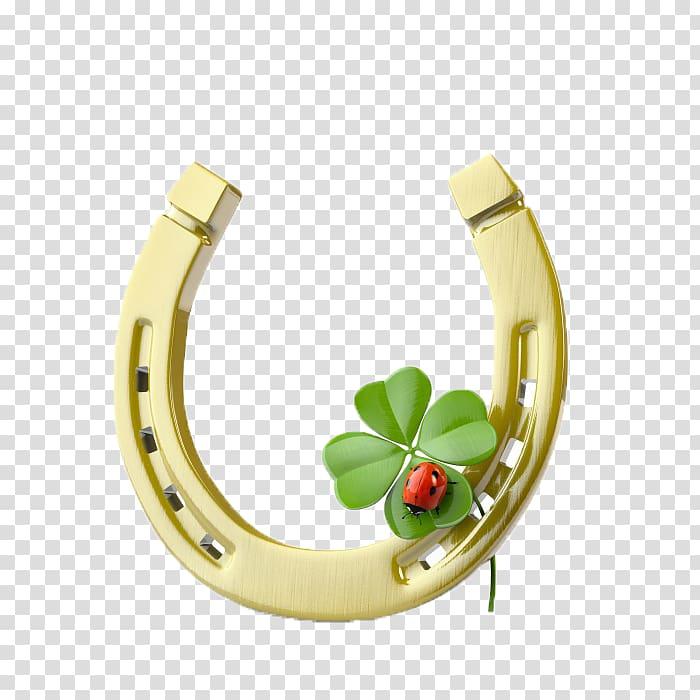 Ladybug clipart good luck symbol. Four leaf clover illustration