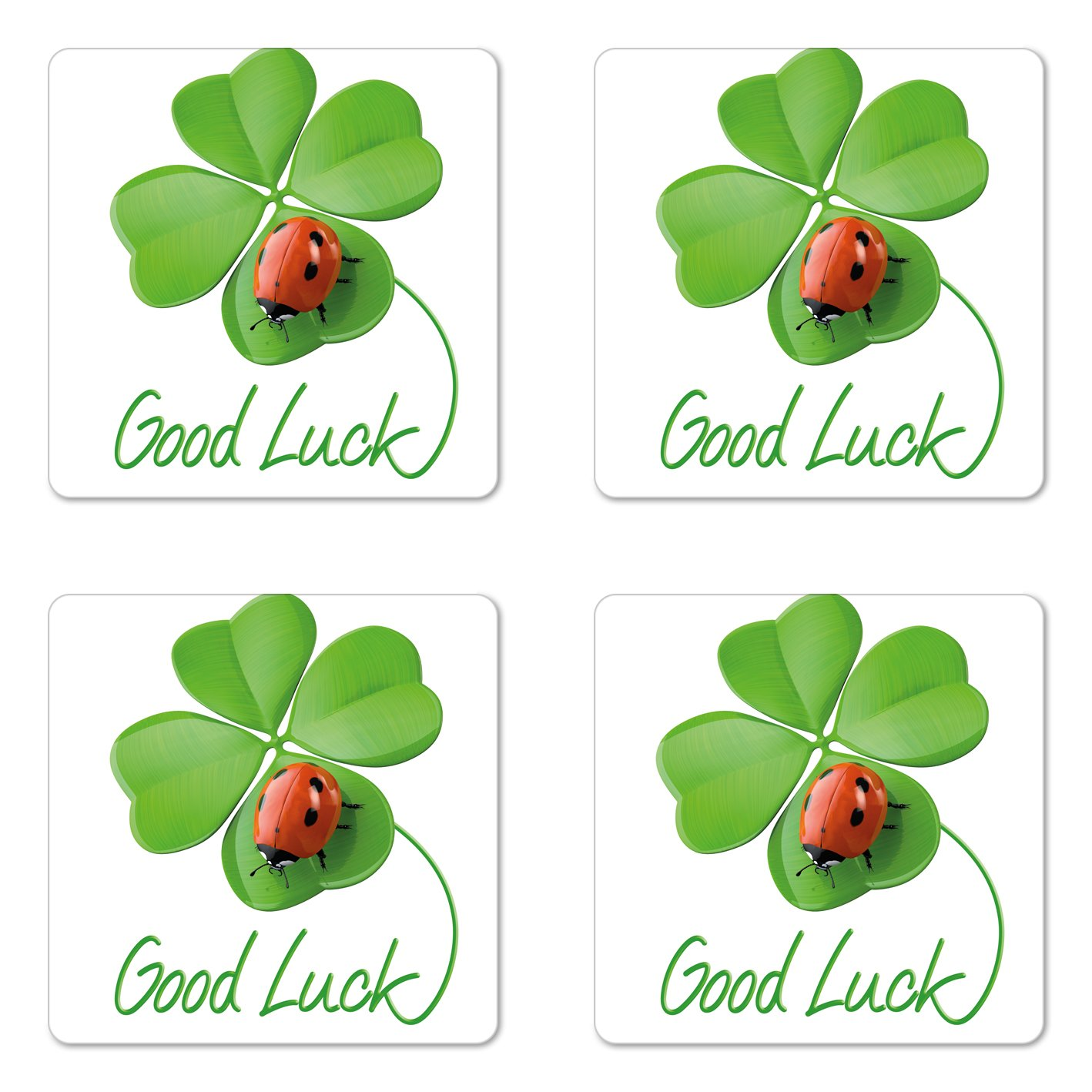 Amazon com ambesonne going. Ladybug clipart good luck symbol