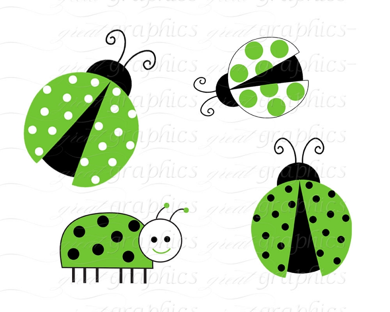 Printable clip art digital. Ladybugs clipart green ladybug
