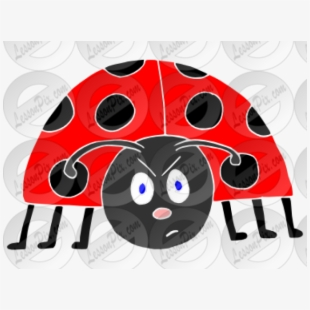 Free the cliparts silhouettes. Ladybug clipart grouchy ladybug