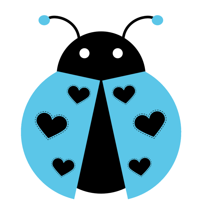 With hearts . Ladybug clipart heart