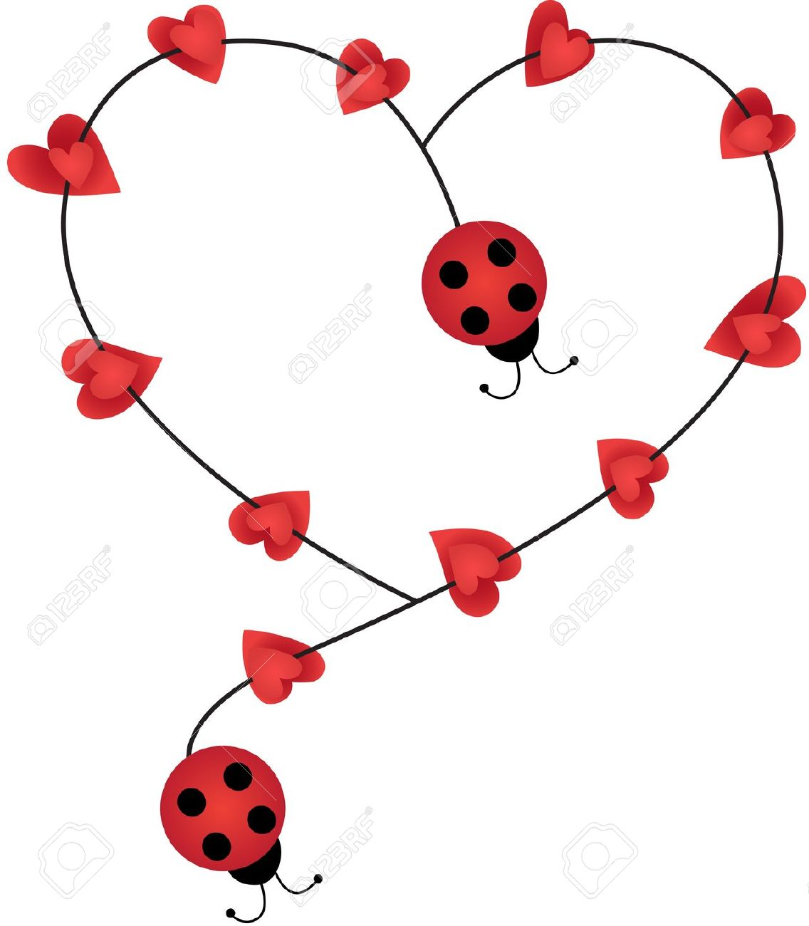 - Ladybug Clipart Heart, Ladybug Heart Transparent FREE For Download