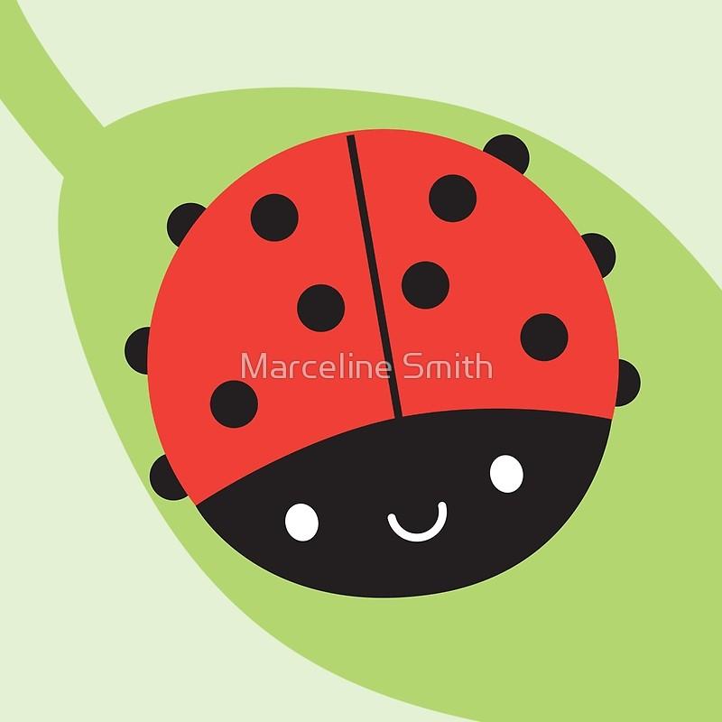 Ladybug clipart kawaii. Ladybird art print