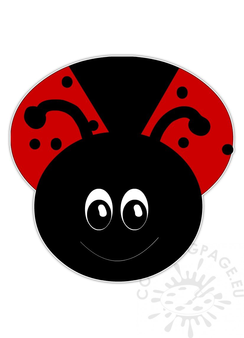Cartoon coloring page . Ladybug clipart kid