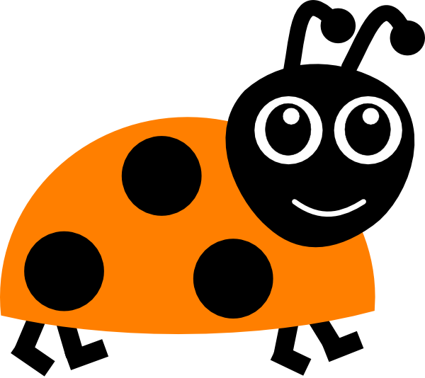 Ladybugs clipart eye. Orange ladybug clip art