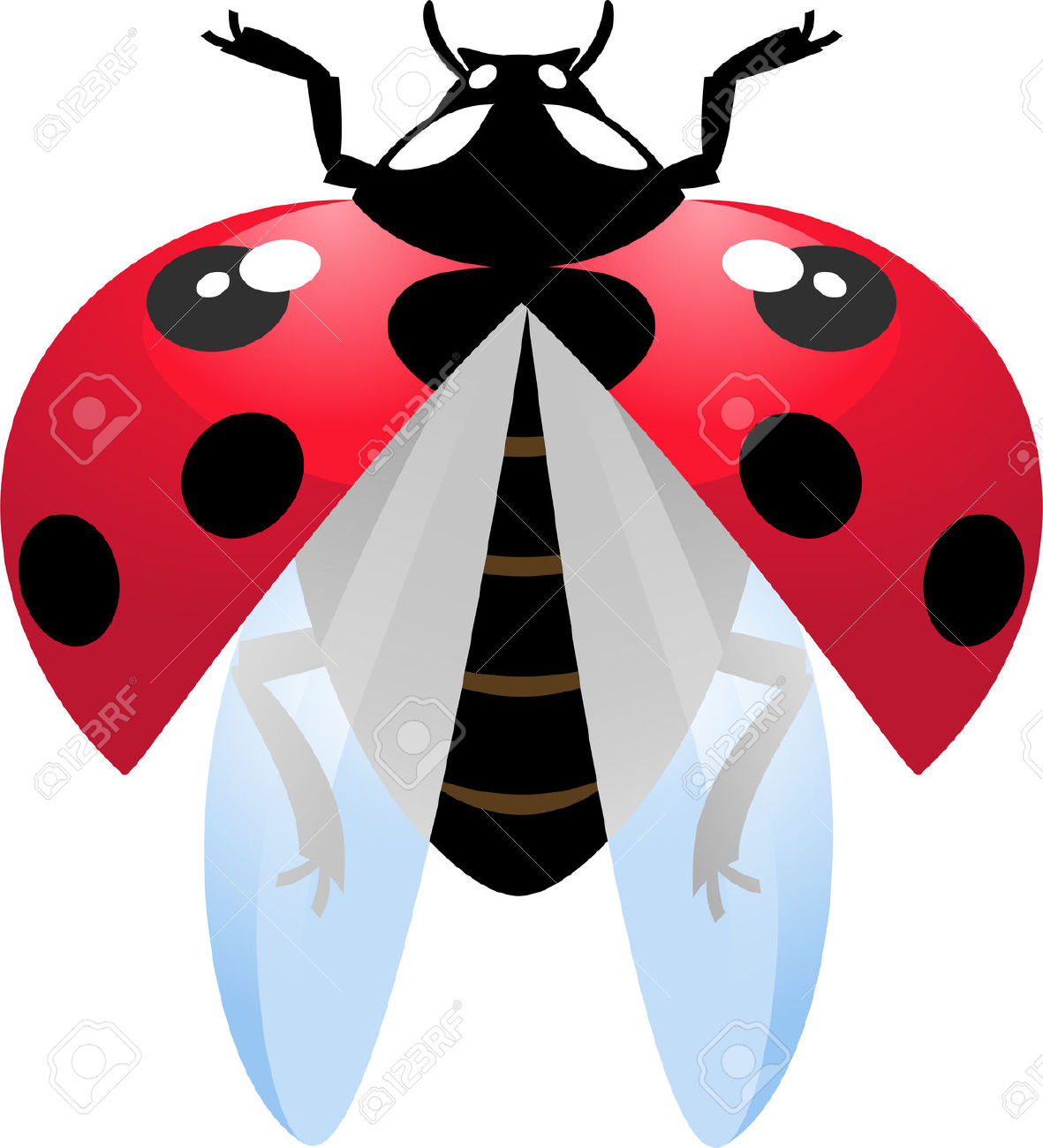 Ladybug clipart ladybug wing. Flying free download best