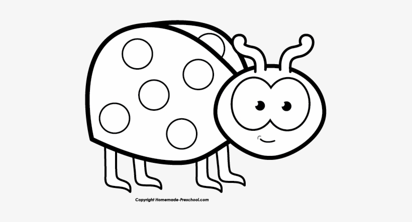 Free lady bug black. Ladybug clipart line art