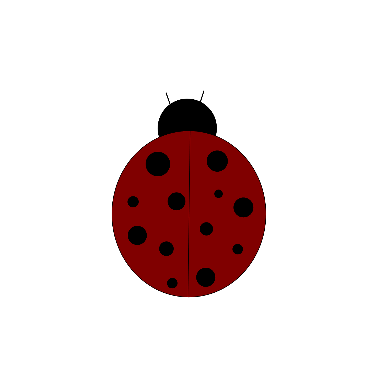 Free for invitations image. Ladybug clipart outline