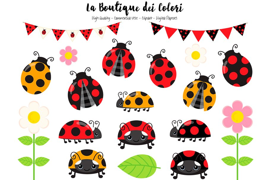 Clip art . Ladybug clipart red animal