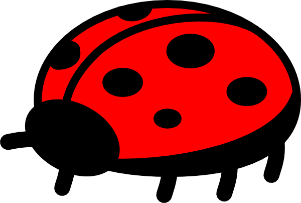 Top png svg clip. Ladybug clipart side view