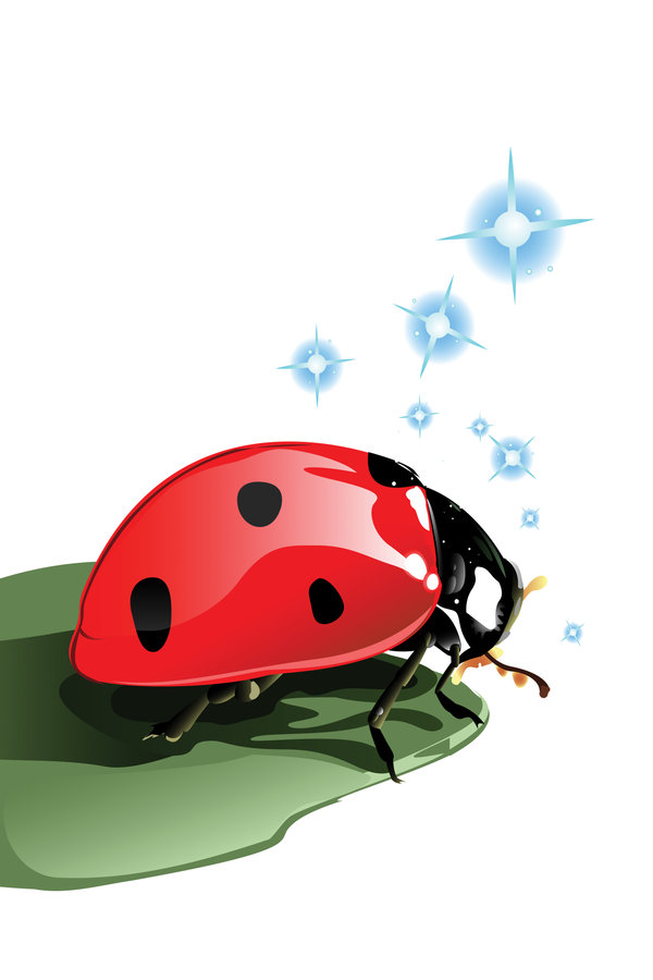 Library more like hillside. Ladybug clipart side view