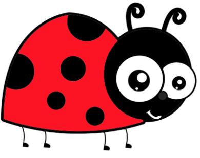 Cute funny stuff cartoon. Ladybug clipart simple