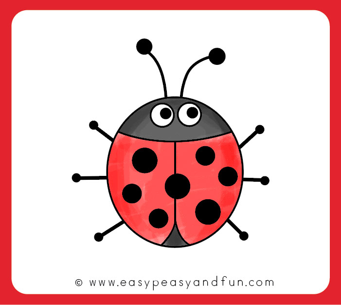 How to draw a. Ladybug clipart simple shape