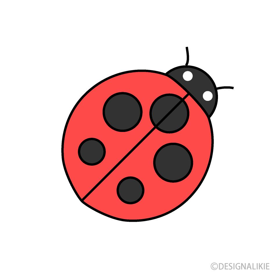 Ladybug clipart simple. Free picture illustoon