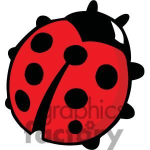 Ladybug clipart spot. Red with black spots