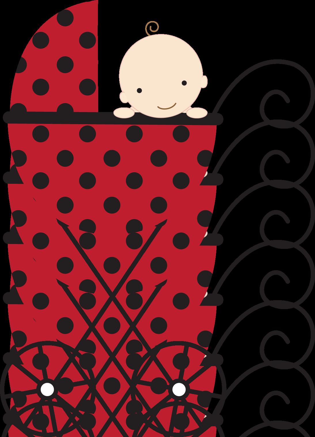 Mariquita beb scrapbook pinterest. Ladybugs clipart stroller