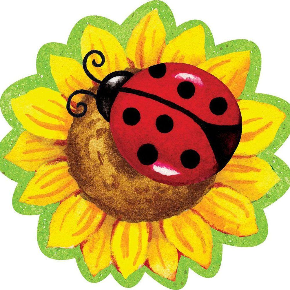 Pvc hang around . Ladybug clipart sunflower