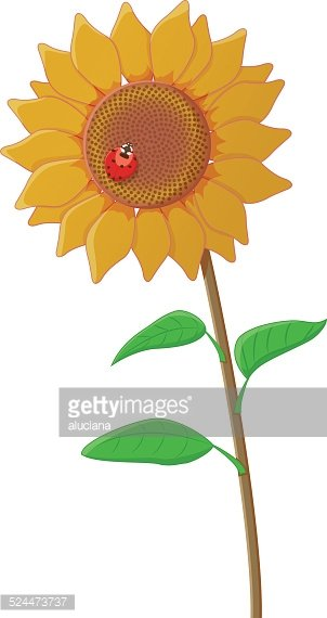 With a premium clipartlogo. Ladybug clipart sunflower