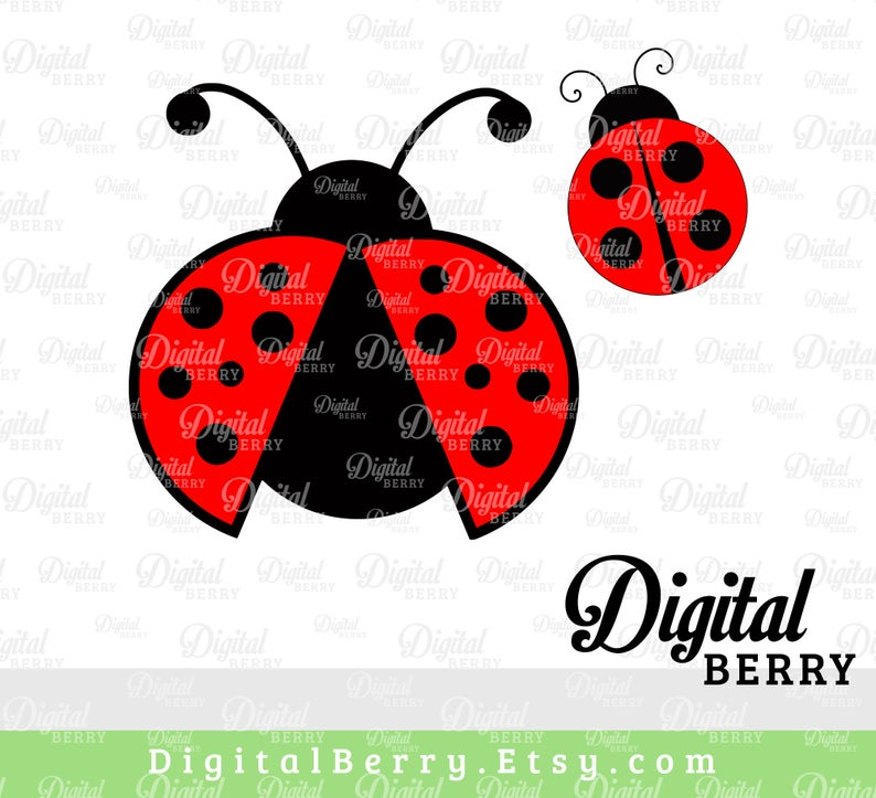 Cut files unicorn image. Ladybug clipart svg