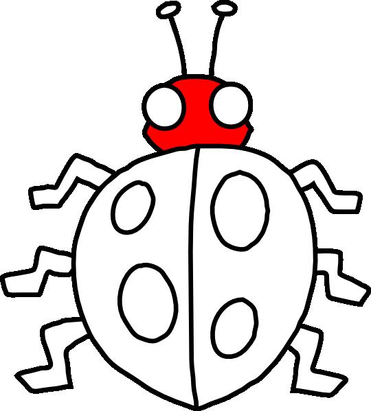 Clip art at clker. Ladybug clipart symmetrical