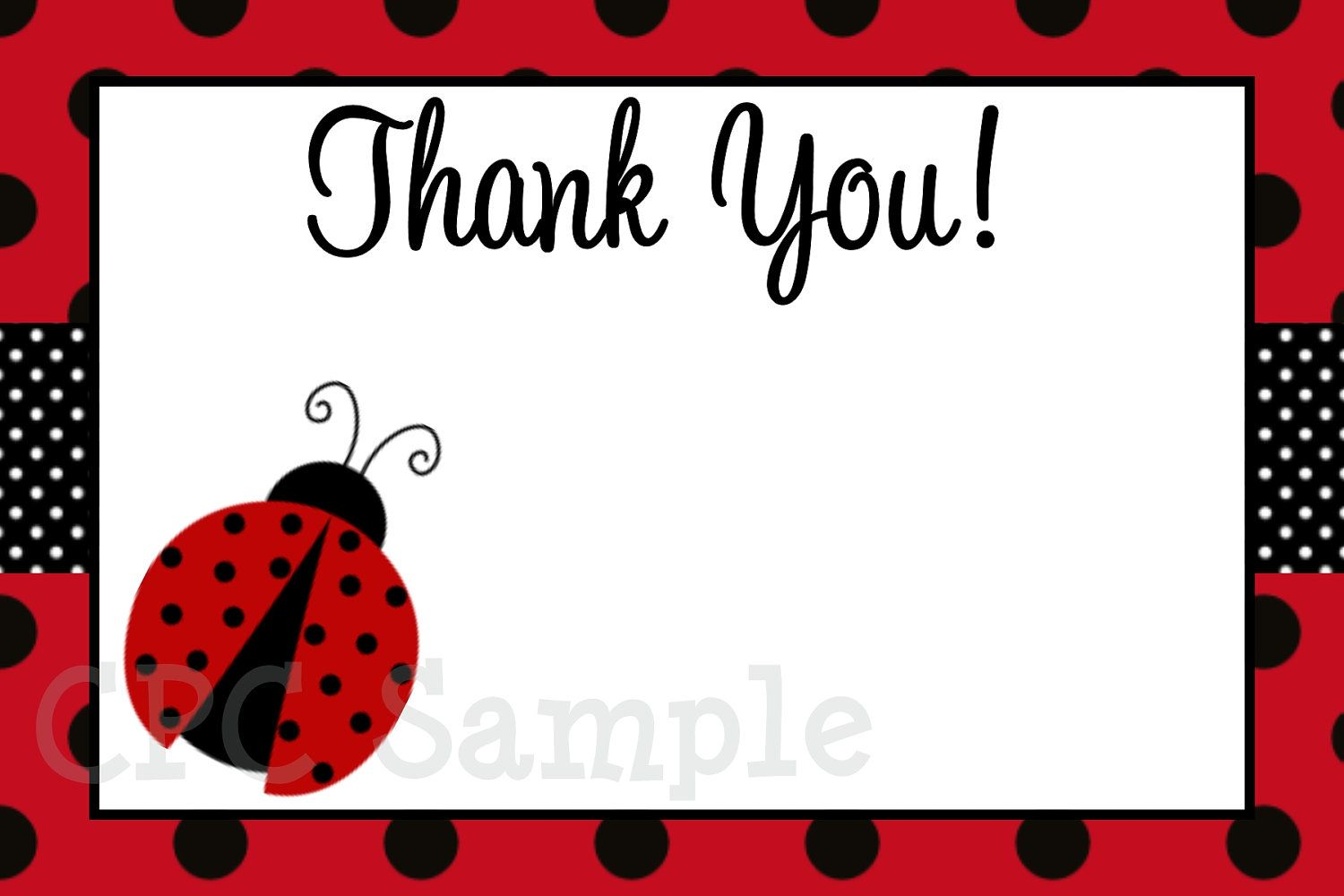 Ladybugs clipart thank you. Ladybug card printable matching