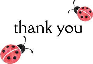 Ladybug clipart thank you. Cards zazzle