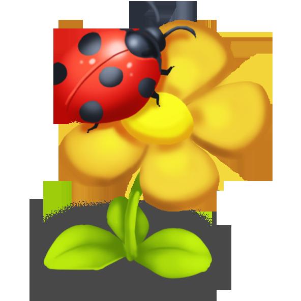 Ladybug clipart yellow ladybug. Image decor png hay