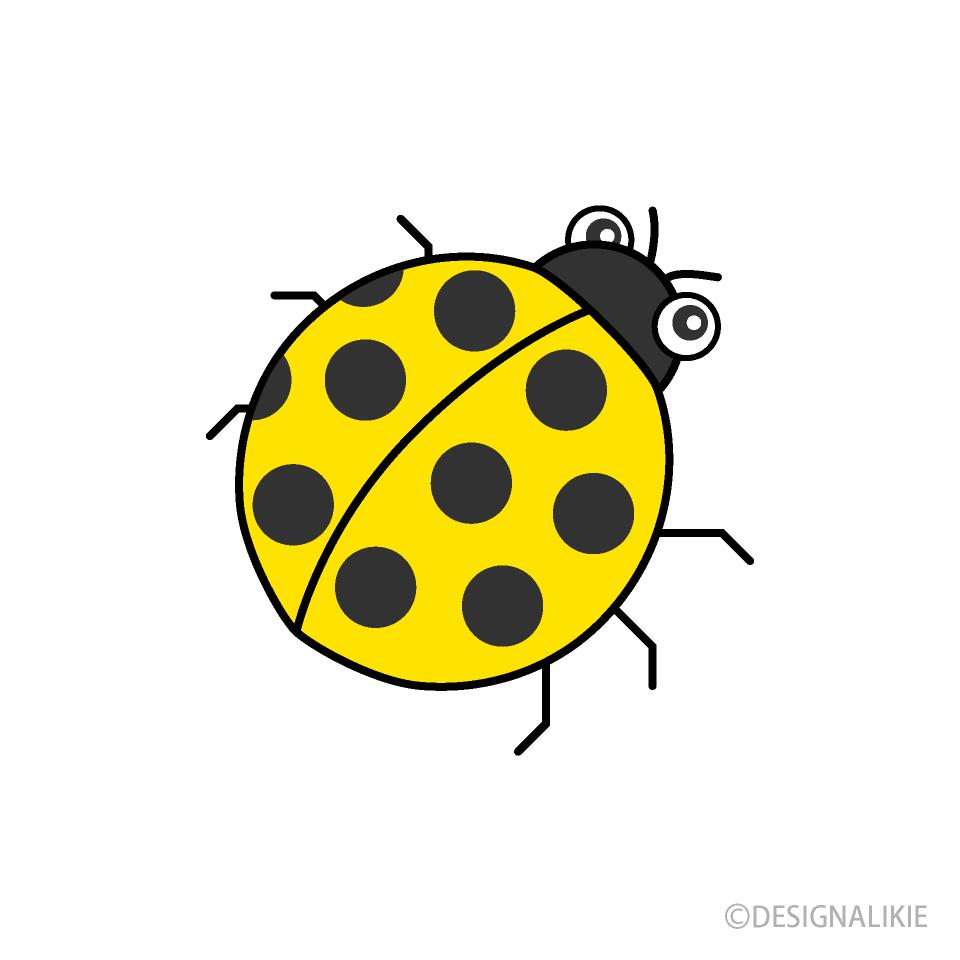 Ladybug clipart yellow ladybug. Free picture illustoon