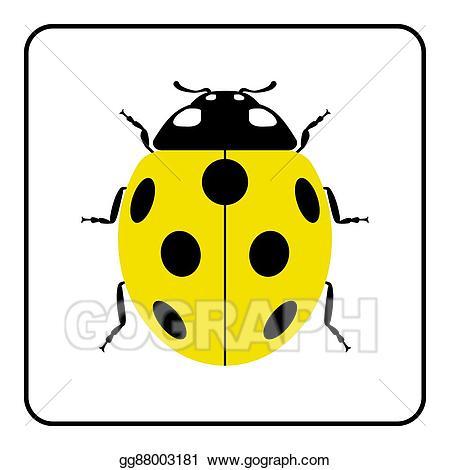 Clip art vector realistic. Ladybug clipart yellow ladybug