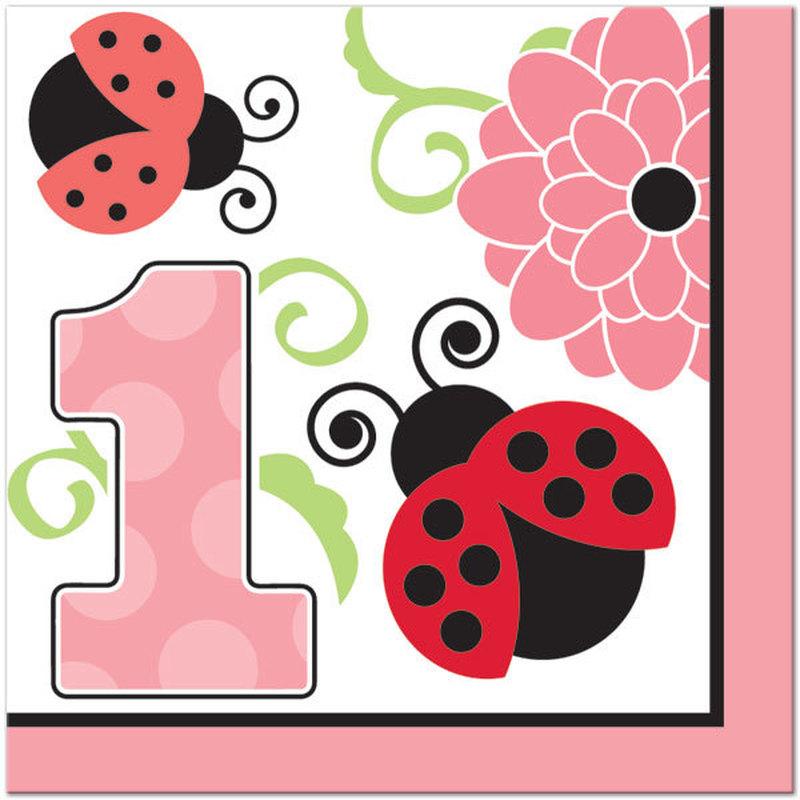 Ladybug st party count. Ladybugs clipart 1st birthday