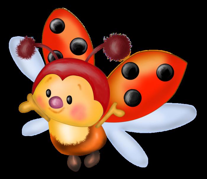 Borboletas joaninhas e etc. Ladybugs clipart adorable