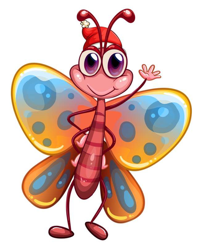 Ladybugs clipart butterfly.  png clip art