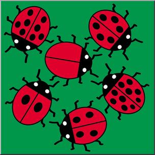 Clip art color i. Ladybugs clipart colored