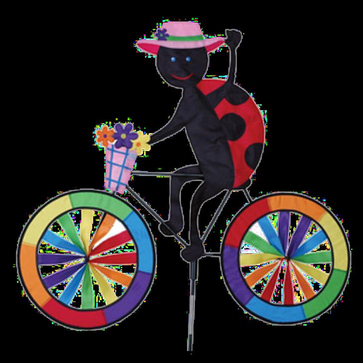 Ladybug on a bicycle. Ladybugs clipart cycle