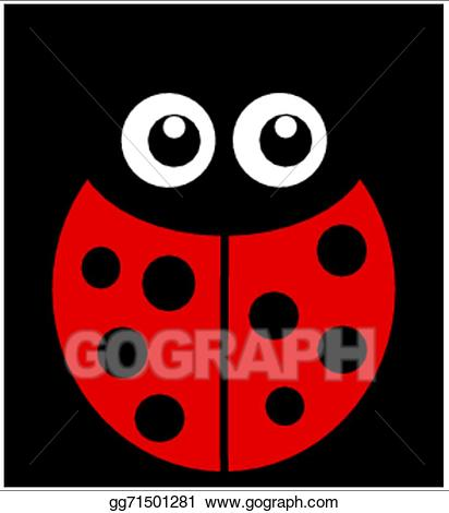 Ladybugs clipart eye. Eps illustration a ladybug