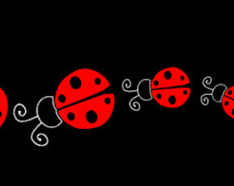 Ladybug car decals panda. Ladybugs clipart family