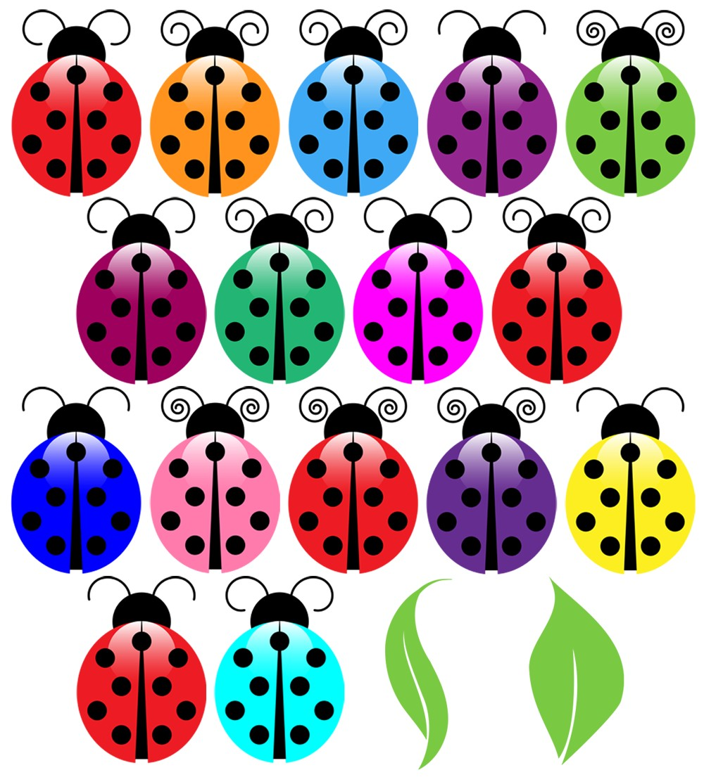 Ladybugs clipart five. X making the web