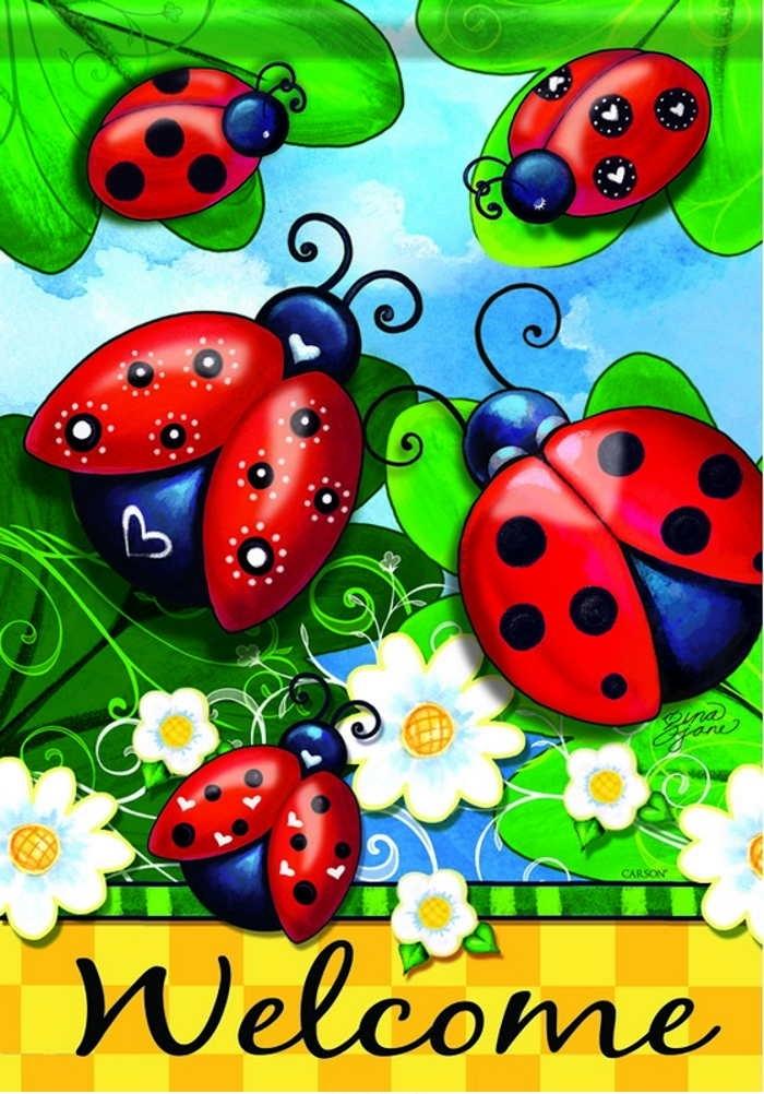 Lovely dura soft garden. Ladybugs clipart glitter