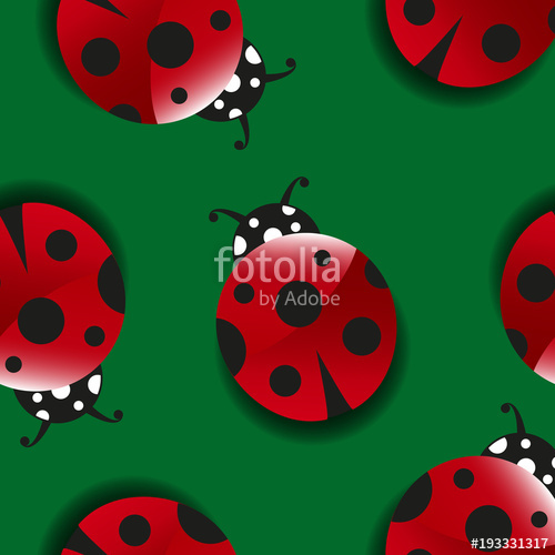 Ladybugs clipart good luck symbol. Seamless pattern with cute