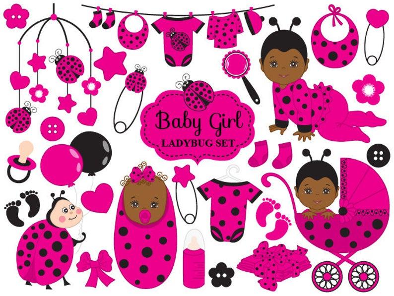 Ladybugs clipart item. Baby ladybug vector african