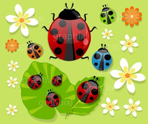 Ladybugs clipart kid. Clip art ladybug digital