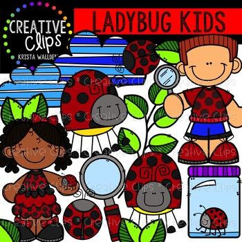 Ladybugs clipart kid. Ladybug kids creative clips